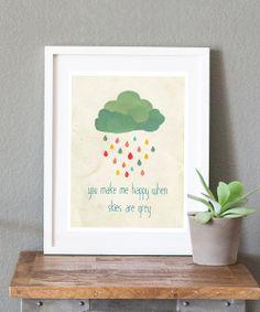 Skies are Gray Print