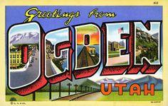Greetings from Ogden Utah. #vintage #utah #postcard