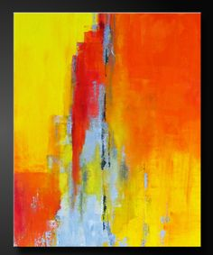 """""""Adobe"""" Abstract acrylic painting."""