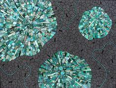 Spinoff 2007 by Sonia King, chrysocolla, malachite, amazonite, pearls, ceramic, glass, turquoise, smalti, paua shell, beach glass, pebbles, abalone, crystals, gold, labradorite