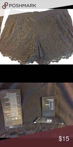 90s Lookbook Sexy lace tap pants from H&M Sz. L. Almost new condition. H&M Shorts