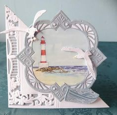 Marianne Design, Big Shot, Handmade Cards, Seaside, Card Ideas, Style, Vacation, Do Crafts, Craft Cards