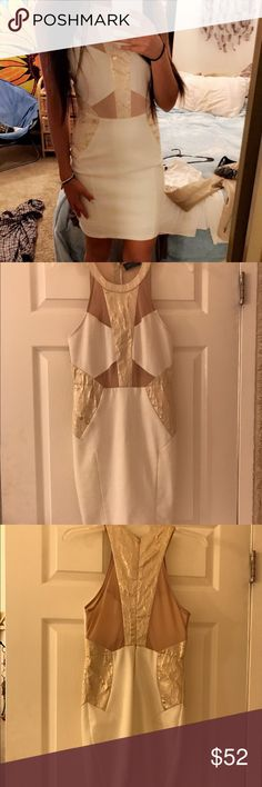 Mesh dress Gold bondage mesh dress Dresses Mini