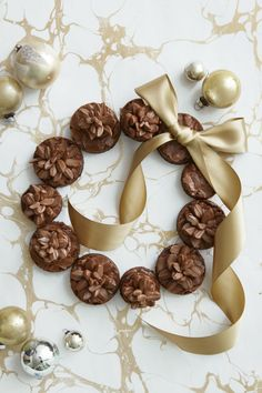 Pinecone Brownie Wreath  - GoodHousekeeping.com