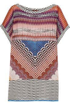 Missoni Metallic crochet-knit tunic | NET-A-PORTER