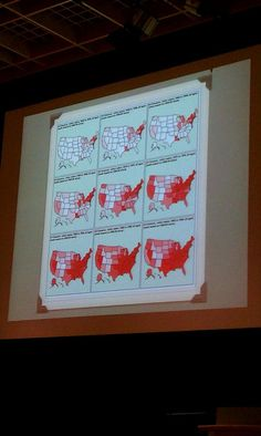 Cancer rates in US from 1950-2000 via Lindsay Dahl at Safer Chemicals via Disease Cluster Conference.