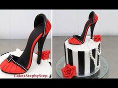 How To Make a High Heel Stiletto Shoe Cake by Cakes StepbyStep - YouTube
