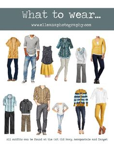 Teal, grey and yellow - What to wear, family photo outfits www.elleanaphotography.com