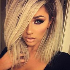 166.85$  Watch now - http://ali4fc.worldwells.pw/go.php?t=32766519982 - Virgin Brazilian Full Lace Wig With Baby Hair Bob Cut Straight Ombre Lace Wig 1b/613 Lace Front Human Hair Wigs For Black Women