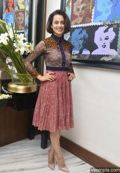 Pretty! Kangana Ranaut shows off her elegant fashion choices in a Gucci dress. via Voompla.com