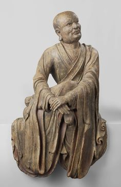 Only 46 more nights until you walk down the stairs in the new Asia Pavilion, inquisitively and perhaps slightly mockingly watched by this 'lohan', an apprentice of Buddha. Sculpture Museum, Lion Sculpture, Amsterdam, Woodworking Inspiration, Sacred Art, Ancient History, Asian Art, Sculpting, Fine Art