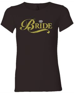 Bride Glitter Scoop Tee