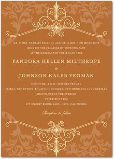 Regal Refinement - Signature White Wedding Invitations - Lady Jae - Amethyst - Purple : Front
