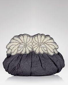 Ambre & Babzoe Damilla Leather Clutch $215