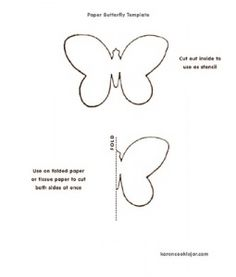 Paper Butterfly Template