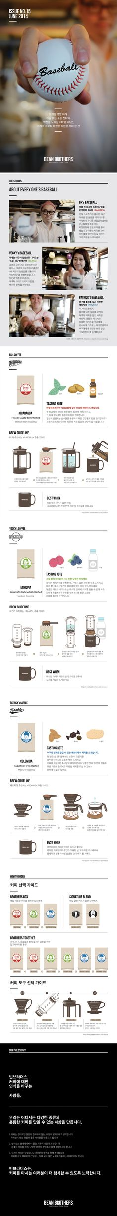 BEAN BROTHERS JUNE BOX / 빈브라더스 6월의 커피박스 / Coffee Subscription / Editorial Design / www.beanbrothers.co.kr