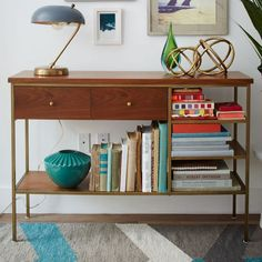 Nook Console - $499 Delivery Surcharge: $30 - West Elm - 21 Essentials for an Insanely Inviting Entryway via Brit + Co.