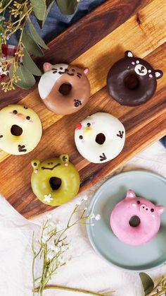 Creative and Yummy Donuts - Blush & Pine Creative Cute Donuts, Mini Donuts, Fancy Donuts, Doughnut, Keto Fingerfood, Delicious Donuts, Yummy Food, Dessert Kawaii, Cute Baking