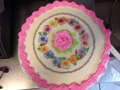 Rose with flowers cake