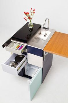 Ana Aranau0027s Kitchen System Is Designed For Small Apartmentsand Can Be  Stored Away When Not In