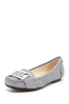 Calvin Klein Meranda Dusty Tumble Leather Moccasin by Back to the Basics on @HauteLook  lovely n Grey!