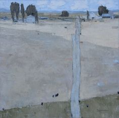 Dinah Worman, A ROAD STACKED FIELDS