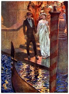 Thou hast conquered - One hour after sunrise  - we shall meet - so let it be! (The assignation) Byam Shaw, from Selected tales of mystery, by E.A. Poe, 1909