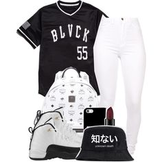 A fashion look from August 2014 featuring Black Scale tops and MCM backpacks. Browse and shop related looks.