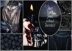 Black, Darkness Moodboard