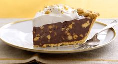 Dark Chocolate-Walnut Caramel Pie  - CountryLiving.com