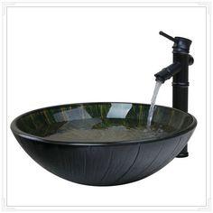 Дешевое Раковины ванной комнаты для умывальника закаленное стекло ручная роспись водопад 42798647 2 санузел ванна объединить латунь кран, смесители и краны, Купить Качество Запчасти для ванных непосредственно из китайских фирмах-поставщиках:            &