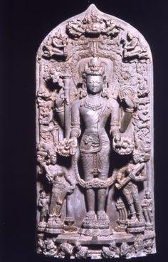 The Hindu deity Vishnu, 1100–1200. India or Bangladesh; northern Bengal. Phyllite.