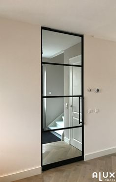 Black Steel Doors With Glass – The Marble Home Types Of Doors, White Doors, Door Wall, Steel Doors, Modern Glass, Cozy House, Glass Door, Colonial, Living Room Decor