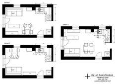 Návrh interiéru  víkendovej chaty 08- Apríl 2015 spoločenská časť- plocha 20,21 m² Floor Plans, Floor Plan Drawing, House Floor Plans