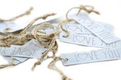 Scrapbooking - Etichette Love You in Metallo pz.15 - un prodotto unico di raffasupplies su DaWanda
