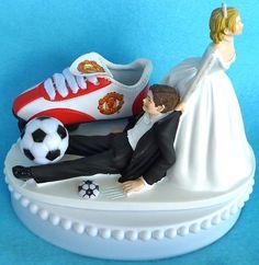 Wedding Cake Topper Manchester United Man U. Soccer by WedSet