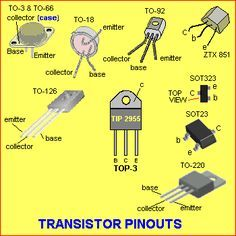 Transistor Pinouts. Electronic TV Television Audio Video Stereo repair in Montreal