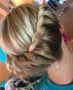 Waterfall and French twist - I'm good at braiding but can't figure this one out. Really pretty!