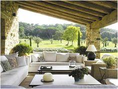 Pergola Connected To House Outdoor Rooms, Outdoor Living, Outdoor Furniture Sets, Outdoor Decor, Backyard Garden Design, Large Backyard, Fun Backyard, Pergola Garden, Rustic Backyard