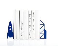 Custom Stylish Laser Cut Bookends | Customizable at Hatch.co