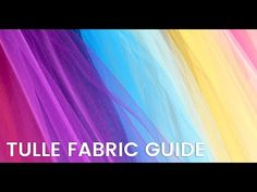 Tulle Product Guide | What is Tulle Fabric? Diy Party, Party Favors, Tulle Fabric, Baby Shower Decorations, Girl Room, Bright Colors, The Creator, Tools, Youtube