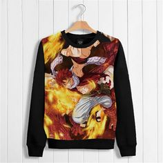 Vicwin-One Fairy Tail Natsu Logo Thick Hoodie Pullover Cosplay (Size M) ** You can get more details by clicking on the image.