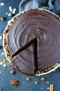 Chocolate Espresso Hazelnut Cake | Garden in the Kitchen #cake #chocolates #chocolatecake #desserts #dessertrecipes #sweettooth #steviva #fructevia #sweetandeasy #ad