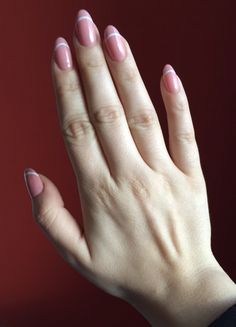 Nails nude pink French
