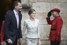 """King Felipe VI of Spain and Queen Letizia of Spain attend the """"Principe de Viana 2015"""" award and Tribute to the Navarra Old Royals at the San Salvador de Leyre Monastery on June 10, 2015 in Navarra, Spain."""