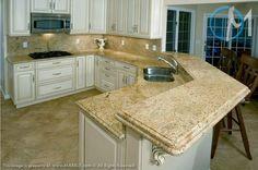 Kashmir Gold Granite In Kitchen Photo Gallery