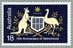 Australia, 1976. Stamp in honor of the Australia's 75th Anniversary of Nationhood.