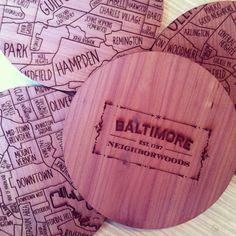 Baltimore Neighborwoods coasters
