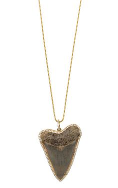 Anita Ko Blue Slate Pavé Shark Tooth Necklace