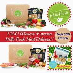 Top Notch Material: Hello Fresh 4 person meal giveaway #SizzlingSummer
